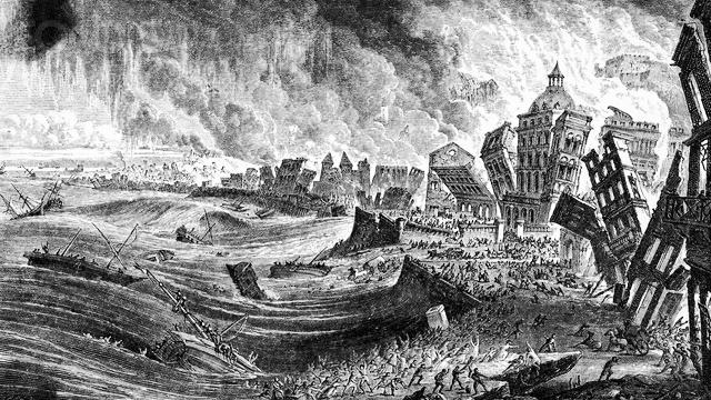 Resultado de imagem para terremoto em Lisboa 1755