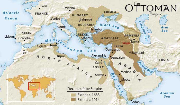 Ottoman Empire map sinjar copy