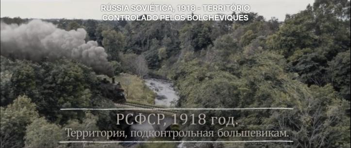 Trem como um símbolo do Trotsky