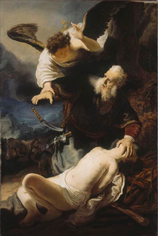 Rembrandt - O Sacrificio de Isaac
