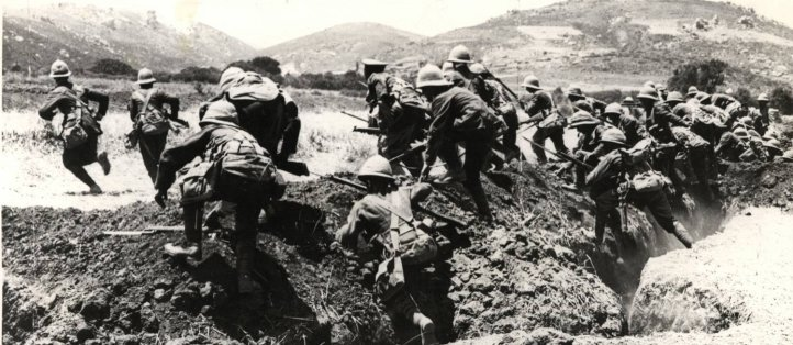 soldados americanos na primeira