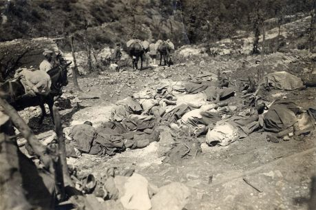 WWI_-_Monte_San_Michele_-_29th_June_1916_Italian_casualties_after_a_gas_attack
