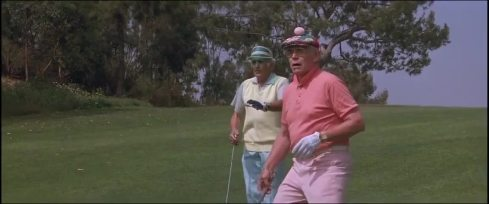 um dia de fúria campo de golfe