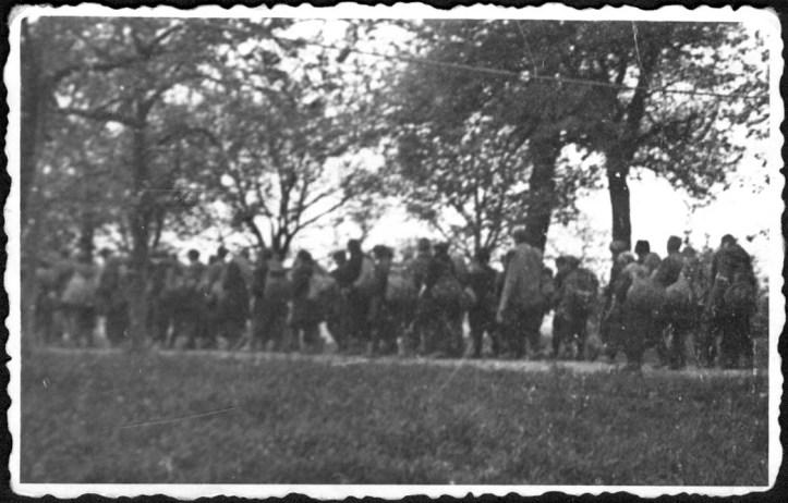 Marcha da Morte saindo de Mauthausen, 1945